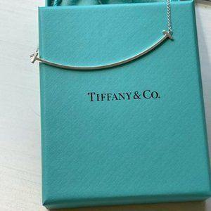 Tiffany Classic Silver Smiley Necklace